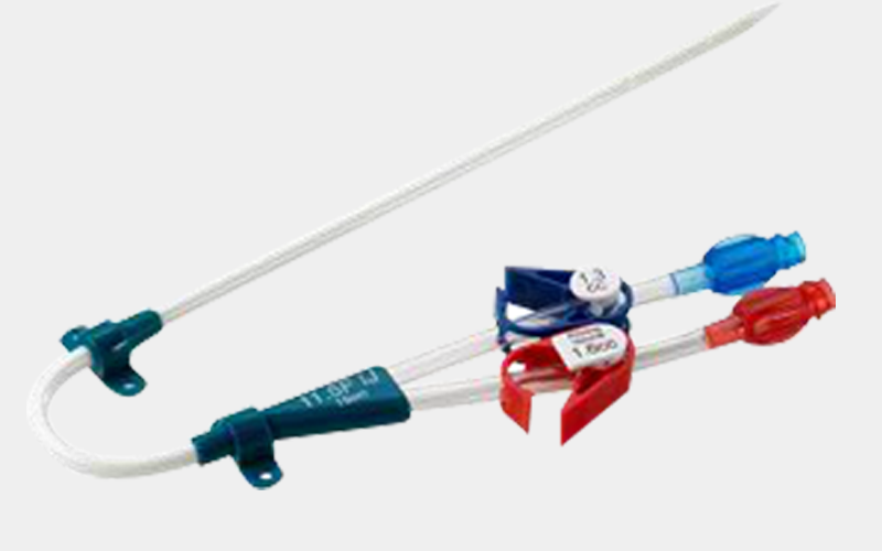Pre-Curved Shaft Not available with triple lumen catheter